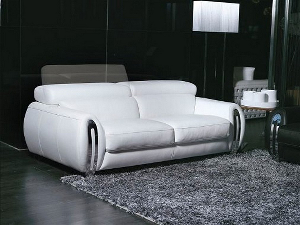 Sofas Fara 3 Seater White Leather Lounge Sofa World