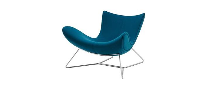 Armchairs Imola Petrol Blue Felt Armchair Sofa World