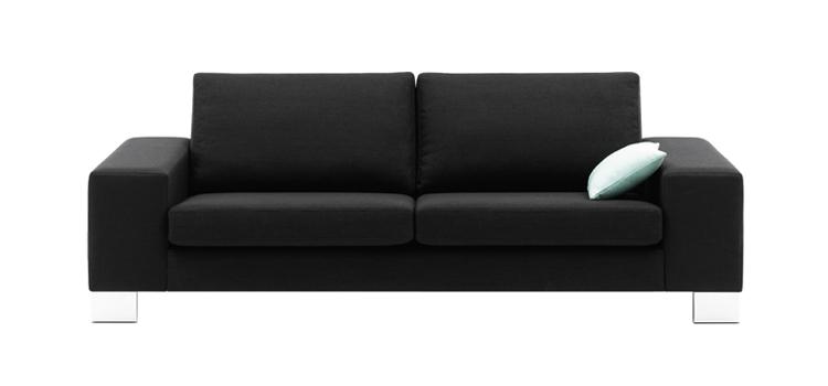 Sofas Indivi 2 Black Bahia Leather Sofa Sofa World