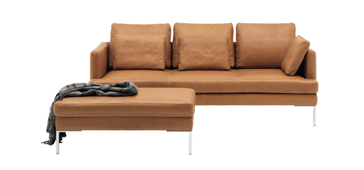 istra light brown leather sofa boconcept furniture