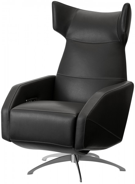 designer-black-leather-recliner-armchair