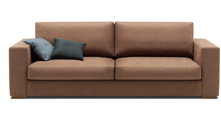 Cenova brown leather sofa Sydney - BoConcept